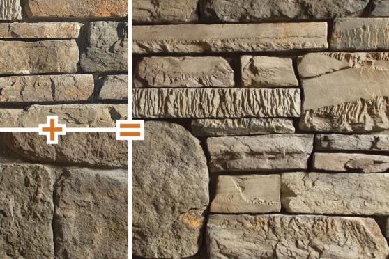 Creative Mines Mixology - Greentea Craft Peak Ledge and Bison Craft Orchard Limestone